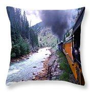 Durango To Silverton Throw Pillow