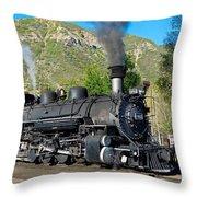 Durango To Silverton Train Throw Pillow