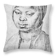 Durer Slave Woman, 1521 Throw Pillow