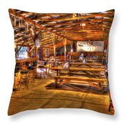 Durhamtown Redneck Bar Art Throw Pillow