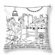 During Inclement Weather Throw Pillow