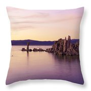 Dusk At Mono Lake Throw Pillow