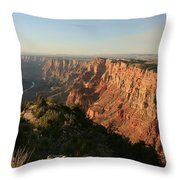 Dusk At The Canyon Throw Pillow