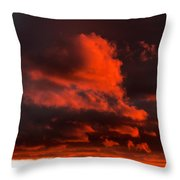 Dusk Falls On The Canyon Throw Pillow