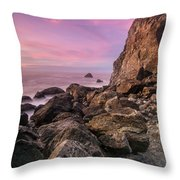 Dusk Falls Over Patrick's Point Throw Pillow