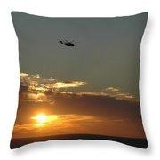 Dusk Fly Over Throw Pillow