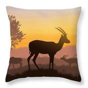 Dusk In Kenya Throw Pillow
