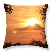 Dusk In The Trees Throw Pillow