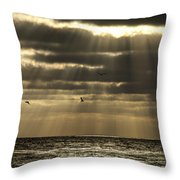Dusk On Pacific Throw Pillow