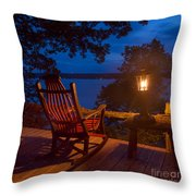 Dusk On The Lake Square Throw Pillow