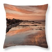 Dusk On The North Jetty Throw Pillow