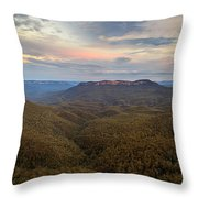 Dusk Over Mount Solitary Throw Pillow