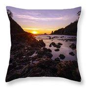 Dusk Skies Along The Coast Throw Pillow
