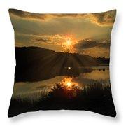 Dusks Glow Throw Pillow