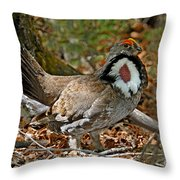 Dusky Grouse Cock Throw Pillow