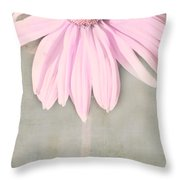Dusky Pink Coneflower Throw Pillow