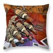 Dust Covered Wine Bottles Throw Pillow by Allen Sheffield