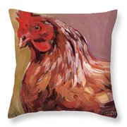 Dust Feathers Throw Pillow