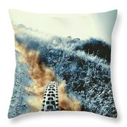 Dust Trails Throw Pillow