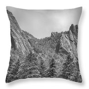 Dusted Flatiron In Black And White  Throw Pillow
