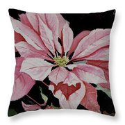 Dustie's Poinsettia Throw Pillow