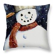 Dustie's Snowman Throw Pillow