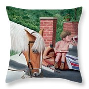 Dustin And Koti Throw Pillow