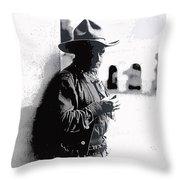 Dustin Farnum On  Set Of Light Of The Western Stars  Las Moros Ranch Southern Arizona 1918-2013  Throw Pillow