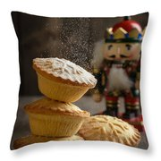 Dusting Mince Pies Throw Pillow