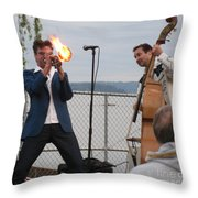 Dusty 45 On Fire Throw Pillow
