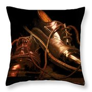 Dusty Dancing Shoes Throw Pillow