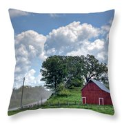 Dusty Road Throw Pillow