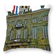 Dutch Architecture Of The Golden Age For Town Hall In Enkhuizen- Throw Pillow