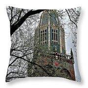 Dutch Reformed Church Tower In Enkhuizen-netherlands Throw Pillow