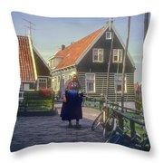 Dutch Traditional Dress Throw Pillow