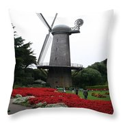 Dutch Windmill In Golden Gate Park Throw Pillow