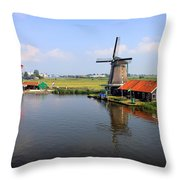Dutch Windmills Throw Pillow