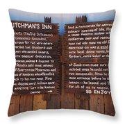 Dutchman's Inn Throw Pillow
