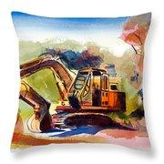 Duty Dozer II Throw Pillow by Kip DeVore