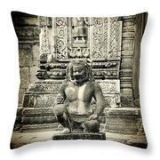 Dvarapala At Banteay Srey Throw Pillow