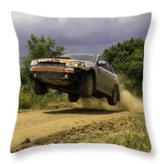 Dw Rally Team Takes Flight Throw Pillow