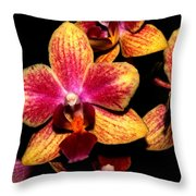Dwarf Orchid Throw Pillow