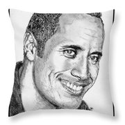 Dwayne Johnson In 2007 Throw Pillow by J McCombie