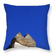 Dwelling Carved Out Of The Rock At Zelve In Cappadocia Turkey Throw Pillow