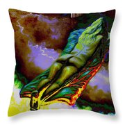 Dwelling In Erotic Pleaseure Throw Pillow