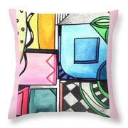 Dwelling In The Square Throw Pillow