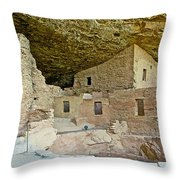 Dwellings In Spruce Tree House On Chapin Mesa In Mesa Verde National Park-colorado  Throw Pillow