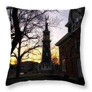 Dwight Windmill At Sunset Throw Pillow