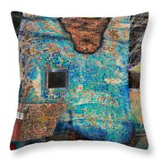 Dyed And Bleached Left Throw Pillow