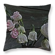 Dying Grieving Flowers Throw Pillow